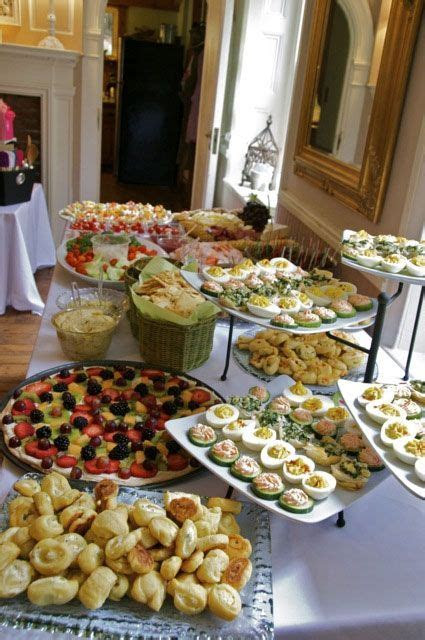 Mmmm Yummy Bridal Shower Buffet at the Sage Farmhouse