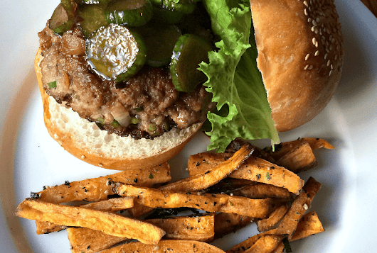 Marley Spoon: Soy-Miso Beef Burgers With Japanese-Seasoned Sweet Potato Fries | (a)Musing Foodie