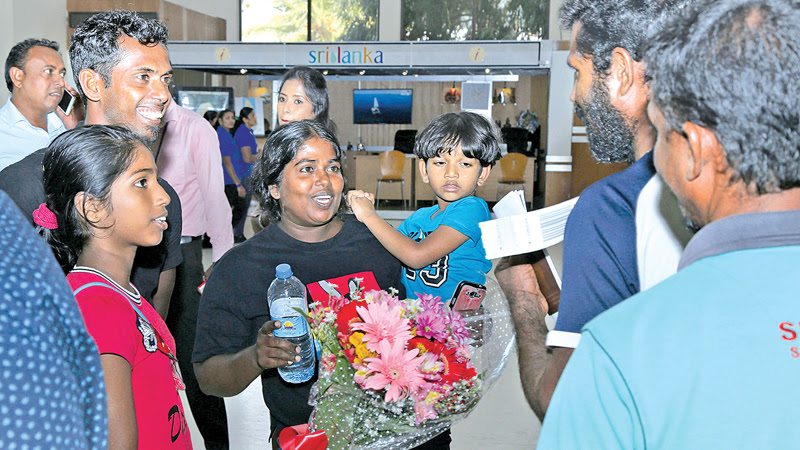 Missing fishermen arrive from the Maldives
