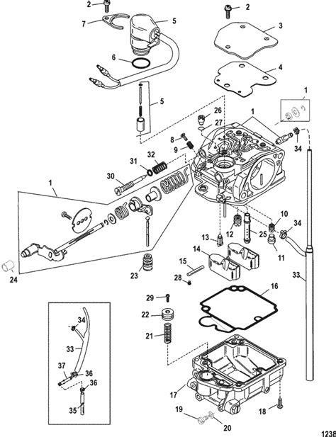 Mercury Marine 25 HP (4-Stroke) Carburetor Parts