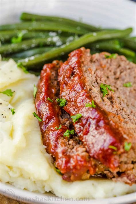 meatloaf recipe    glaze natashaskitchencom