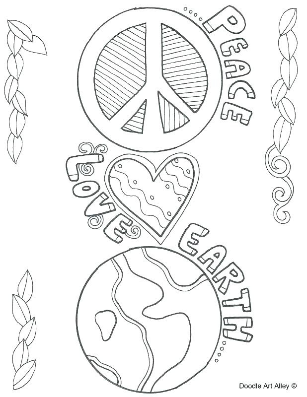 Peace Sign Mandala Coloring Pages At Getdrawingscom Free For