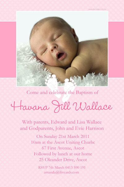 Baptism Christening And Naming Invitations For Girls