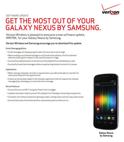 Verizon gets ready to post Galaxy Nexus' Android 4.0.4 update, really really this time