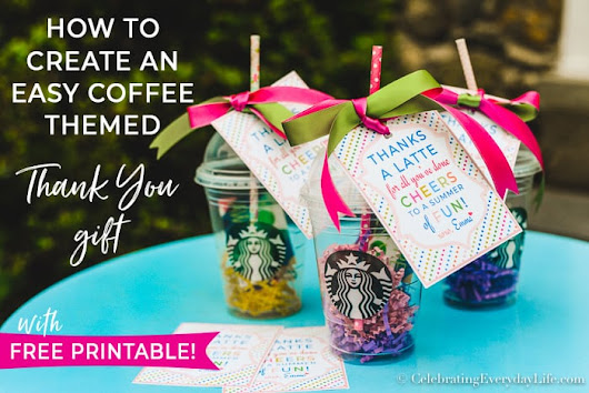 How to Create an Easy Coffee Themed Thank You Gift