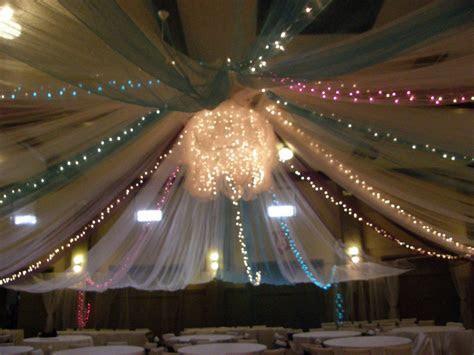 tulle ceiling   wedding   Tulle ceiling, Ceiling decor