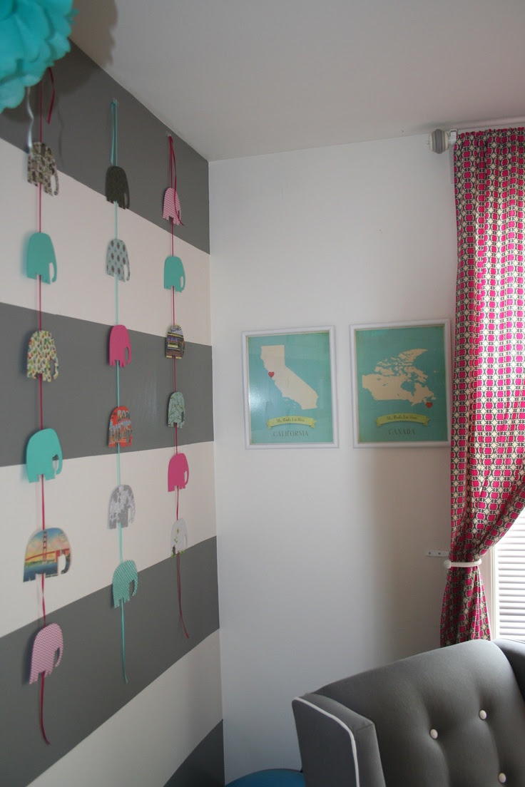 Elephants in Emma's nursery! #DYI #babynursery
