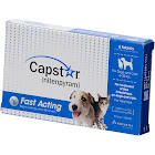 Capstar Oral Flea Treatment for Dogs and Cats, Blue, Tablets - 6 count