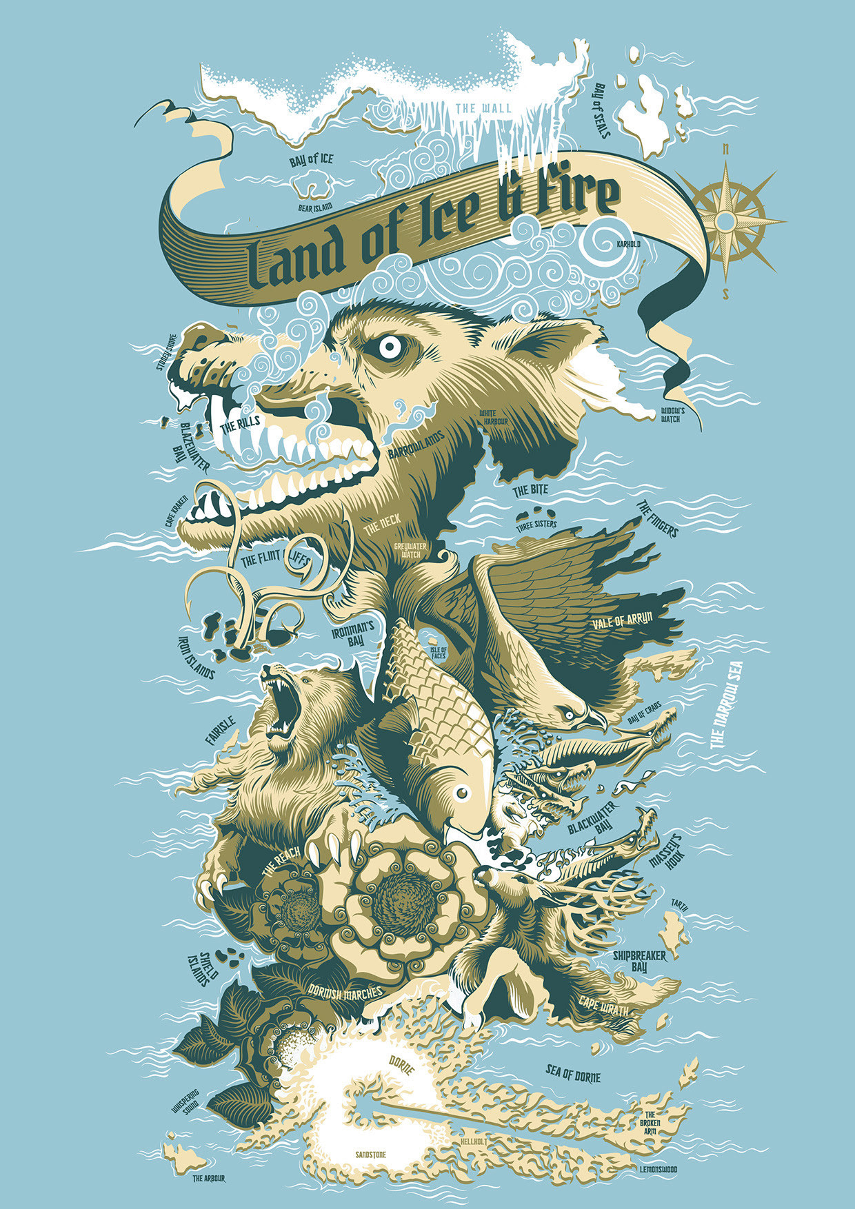 Game of Thrones: Land of Ice & Fire by Steven Tu