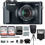 Canon PowerShot G7X Mark II Camera with Digital Slave Flash and 32GB Bundle