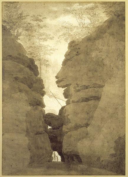 Ficheiro:Rock Arch in the Uttewalder Grund by Caspar David Friedrich.jpg