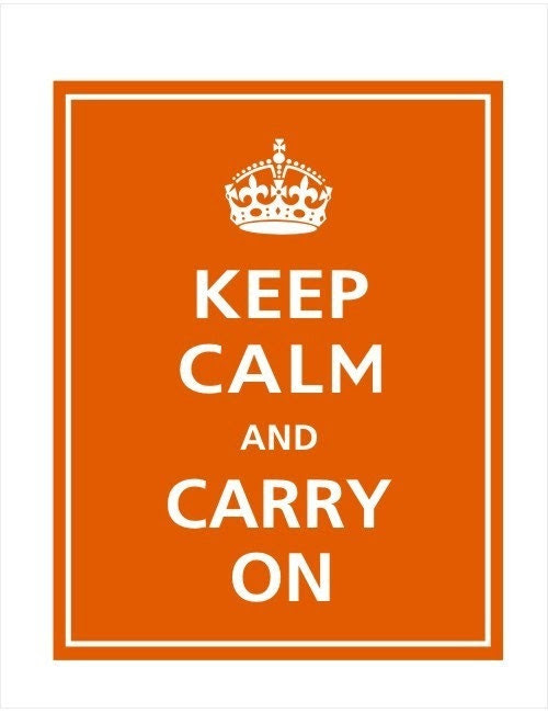 KEEP CALM AND CARRY ON 8x10 Print (PUMPKIN SPICE)