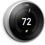 Nest Thermostat: 3rd Generation 'Learning' Thermostat, Stainless Steel