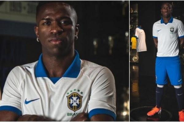 254bbb5fa25 Brasil  asciende  a Vinícius  modelo de la nueva camiseta para la Copa  América