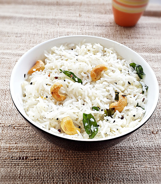 Coconut rice recipe - How to make easy Indian coconut rice - My Indian Taste