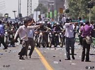 صحنهای از تحرکات لباس شخصیها در حوادث پس از انتخابات ریاست جمهوری در تهران