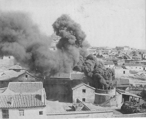 Fábrica de loza en la Antequeruela de Toledo. Fotografía de D. Pedro Román Martínez