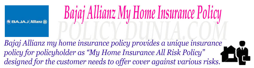 Bajaj Allianz My Home Insurance Policy review and features