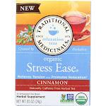 Traditional Medicinals: Organic Stress Ease Cinnamon Tea 16 Tea Bags, 0.85 Oz