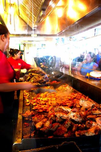 fajitas on the grill