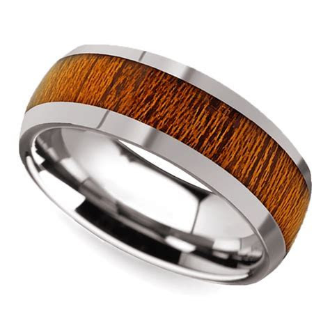 Trend Alert: Men's Wedding Bands with Wood Inlays   The
