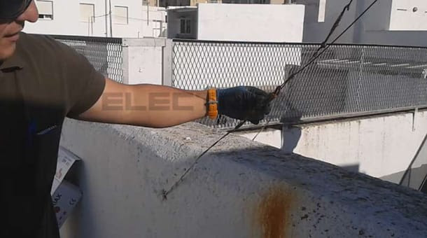 instalación de antena tv tensor oxidado blog