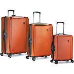 Traveler's Choice Halow 3-Piece Hardside Spinner Set, Orange