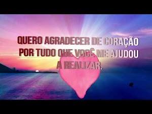 Video Mensagem de Agradecimento Gratidão Agradeço a Ti por Tudo