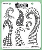 Dylusions - Cling Rubber Stamp Set - Doodled Delight