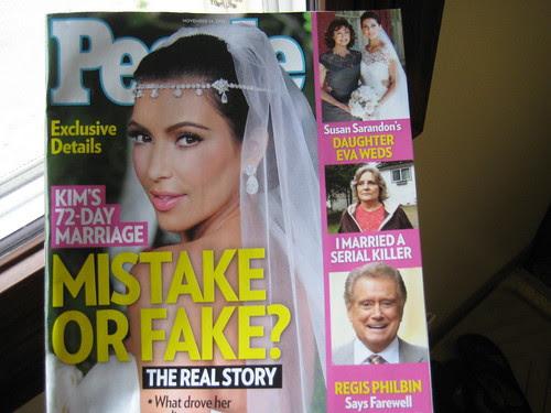 People magazine with Kim Kardashian