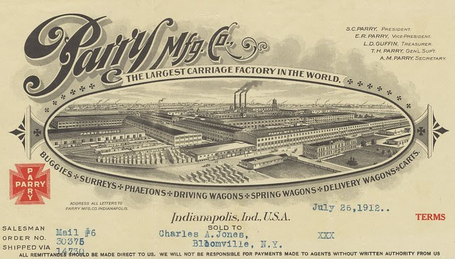 Carriage-maker company correspondence design