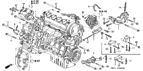 Honda Civic 96 Honda Civic Engine Diagram