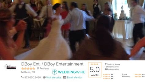 top rated wedding djs   belleville nj dboy ent
