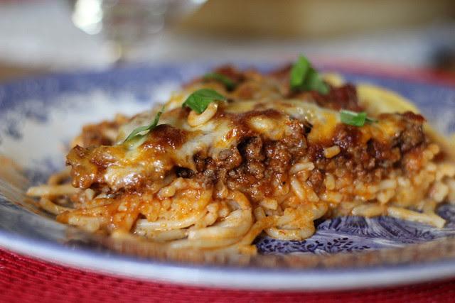 Spaghetti Pizza Pie