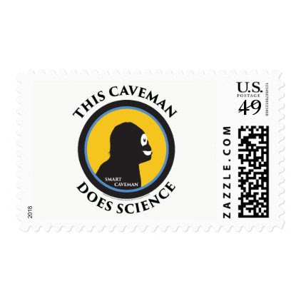 $0.49 Medium Postage Stamps Science Smart Caveman