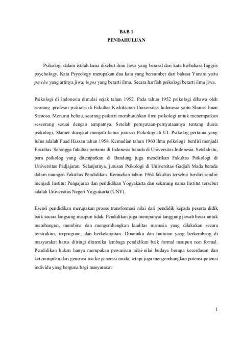 sejarah  pendidikan psikologi  indonesia