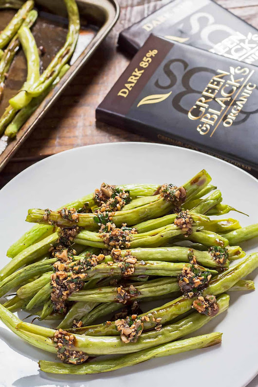 Baked Green Beans with Chocolate Picada Sauce – LeelaLicious