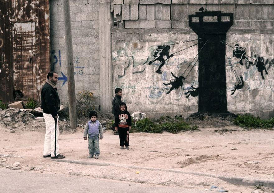 banksy-grafitis-franja-gaza-palestina