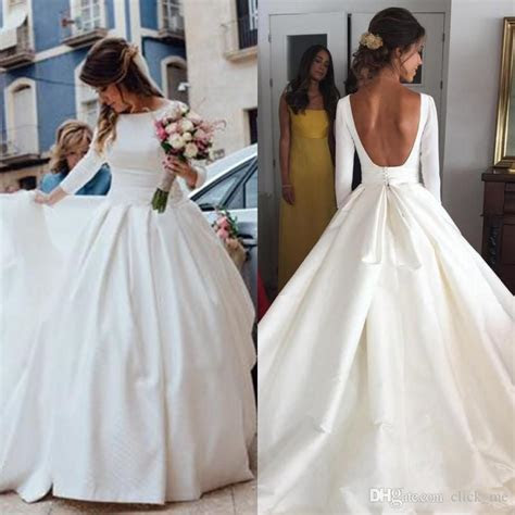 Discount Simple Cheap Wedding Dresses 2018 New Fashion