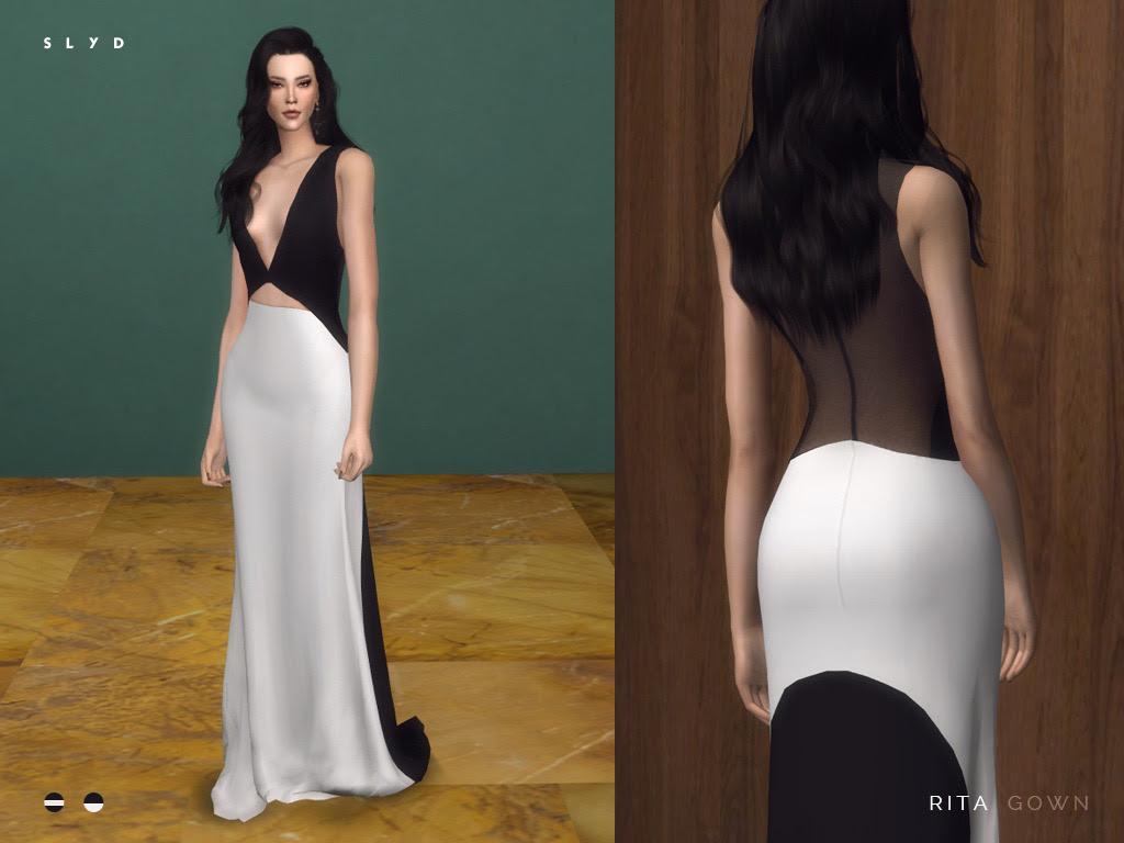 "Rita Vinieris Gown Inspired by Liu Wen's gown at the amfAR Gala. 2 swatches. "" Download: TSR (Feb 26) """