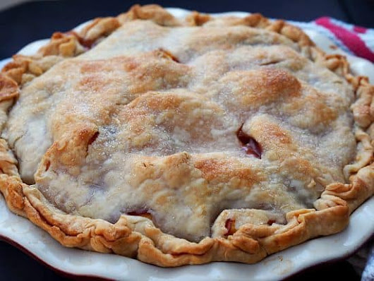 """Drunken"" Peaches and Cream Pie recipe"