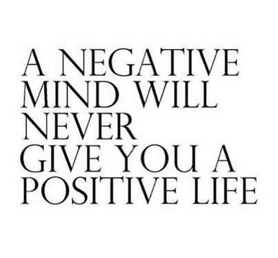Simple Motivating Life Picture Quote Negative Mind Never Give You
