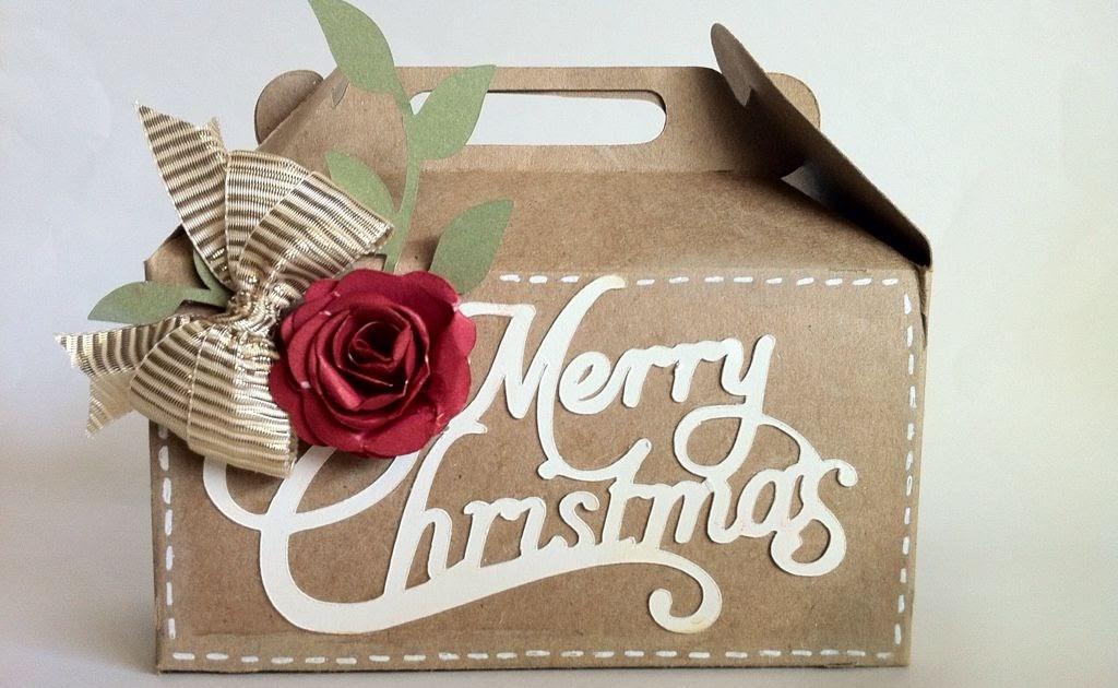 Courtney lane designs merry christmas gable box made