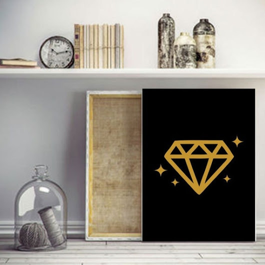 Diamond gold poster printable download istant A3 by KappaGraphic