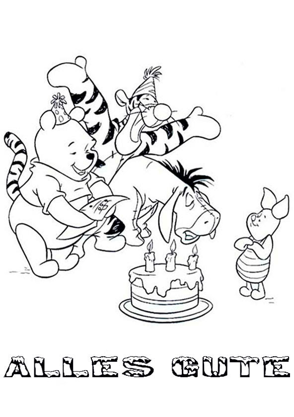 Geburtstag (5)   Ausmalbilder