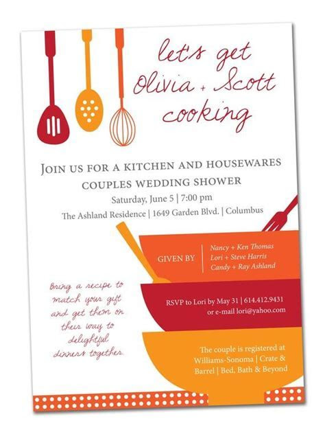 Kitchen themed Bridal Shower invitation PLUS matching by