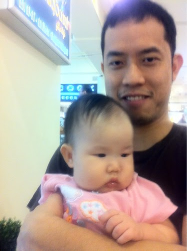 Ming Jin and baby Hanae