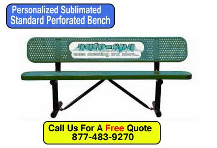 Standard Metal Benches Customized With Your Logo Or Words For Sale | XPB Offers Lockers, Restroom Partitions, Sinks, Accessories & More - 877-483-9270