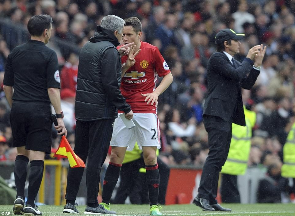 Herrera spent much of the afternoon glued to Eden Hazard in a bid to nullify the threat of the Belgium international
