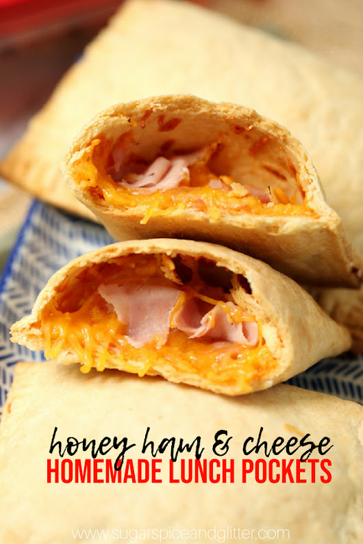 Ham & Cheese Lunch Pockets ⋆ Sugar, Spice and Glitter